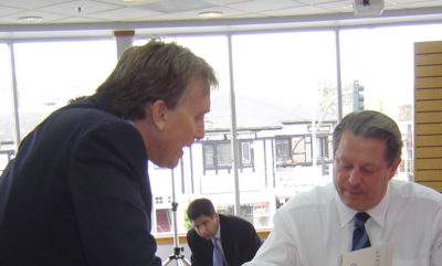 Al Gore with Alan Bell Reviewing Environmental Document